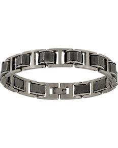 Montana Silversmiths Men's Stainless Steel Linked Bracelet, Silver, hi-res