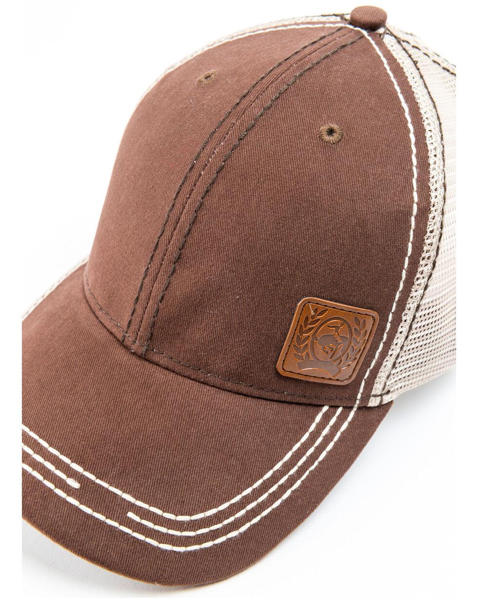 Cinch Women's Solid Trucker Cap, Brown, hi-res