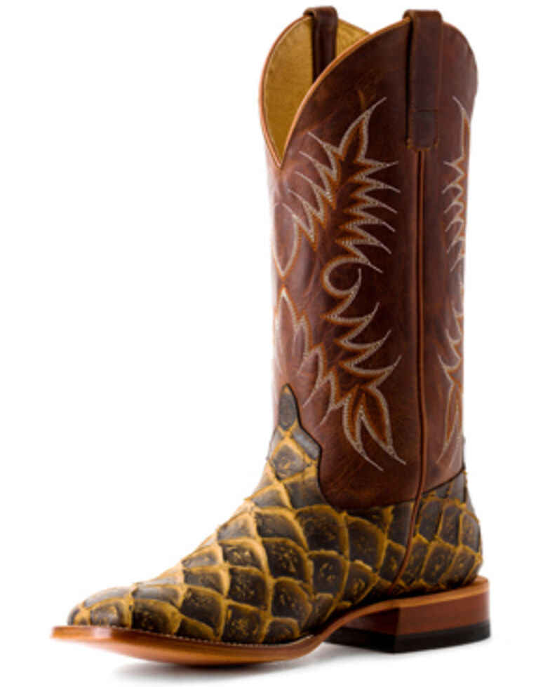 HorsePower Boys' Filet To Fish Western Boots - Square Toe, Brown, hi-res