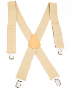 Hawx Men's Tan Work Suspenders, Tan, hi-res