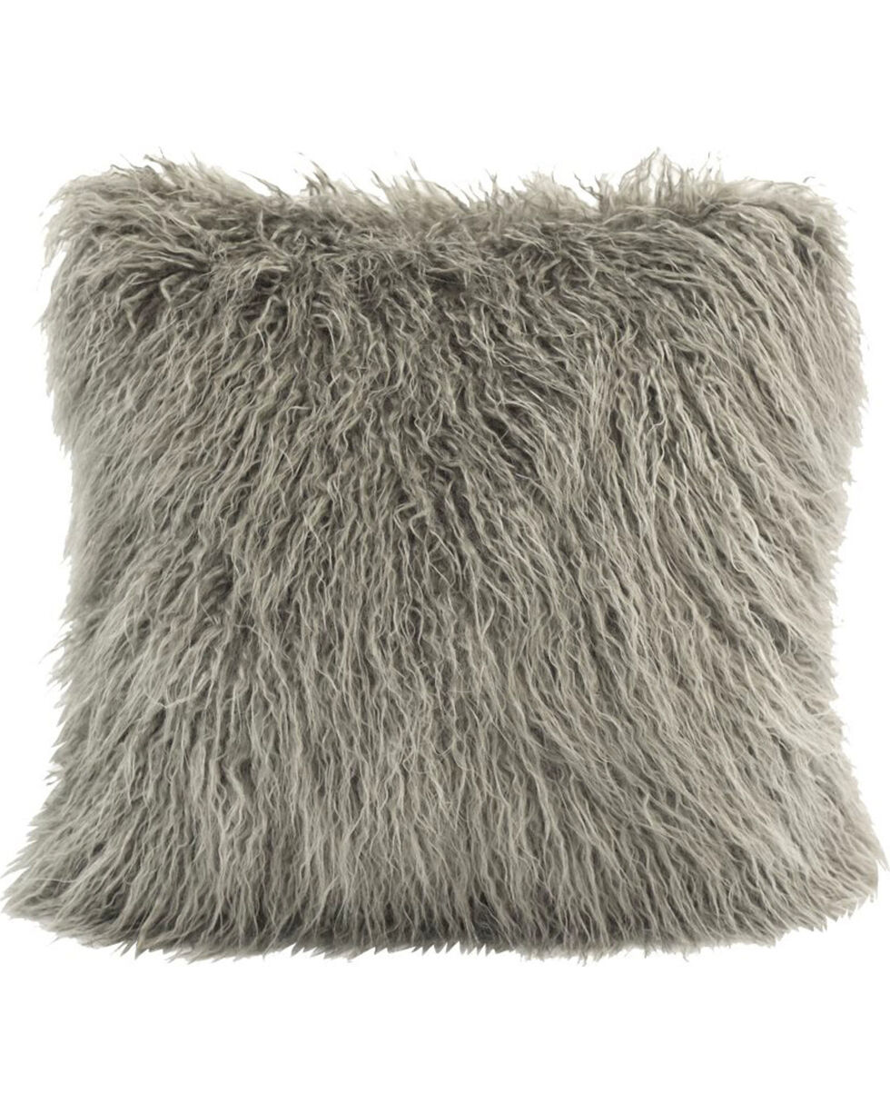 HiEnd Accents Mongolian Faux Fur Pillow, , hi-res