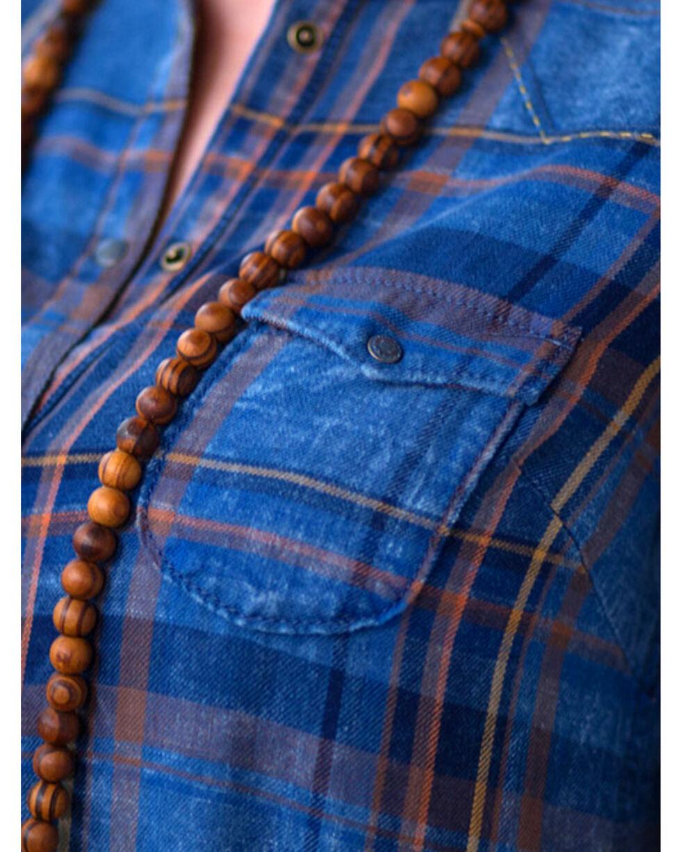 Ryan Michael Women's Indigo Plaid Shirt Dress, Indigo, hi-res