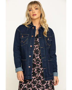Wrangler Women's Caleb Barn Denim Jacket, Blue, hi-res