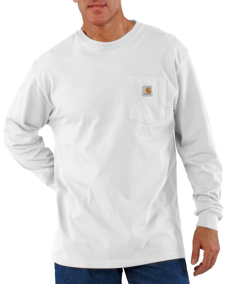 275d6fe644ec Zoomed Image Carhartt Men's Workwear Long-Sleeve Pocket T-Shirt - Tall,  White, hi