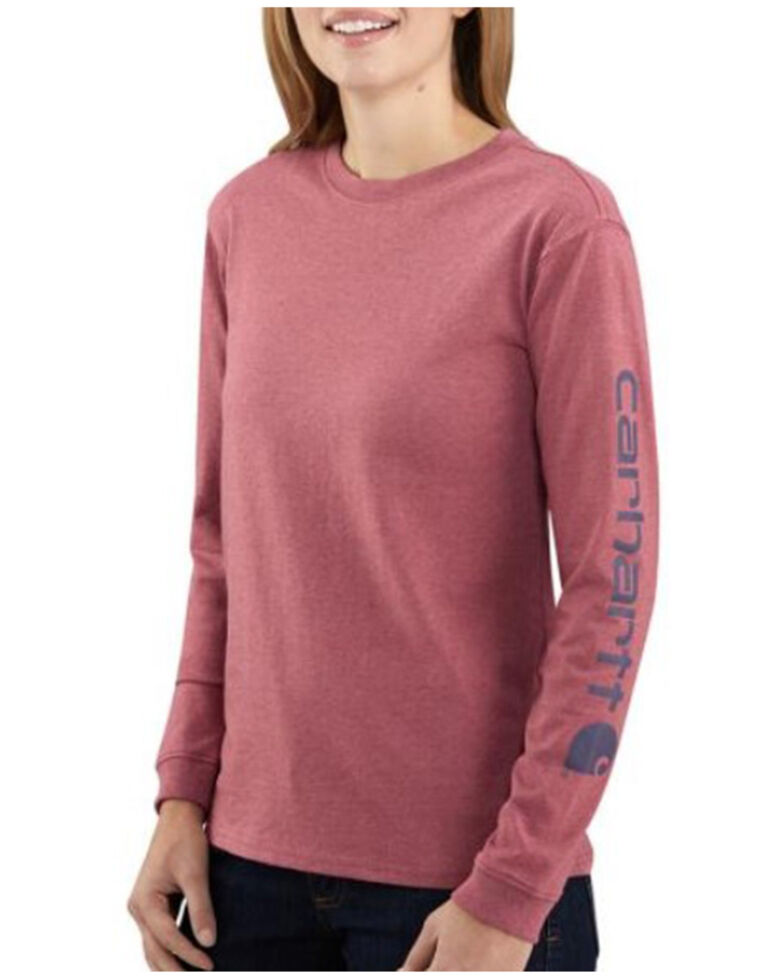 Carhartt Women's Logo Long Sleeve Work T-Shirt - Plus, Natural, hi-res