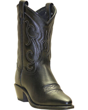 "Abilene Women's 9"" Soft Textured Western Boots, Black, hi-res"