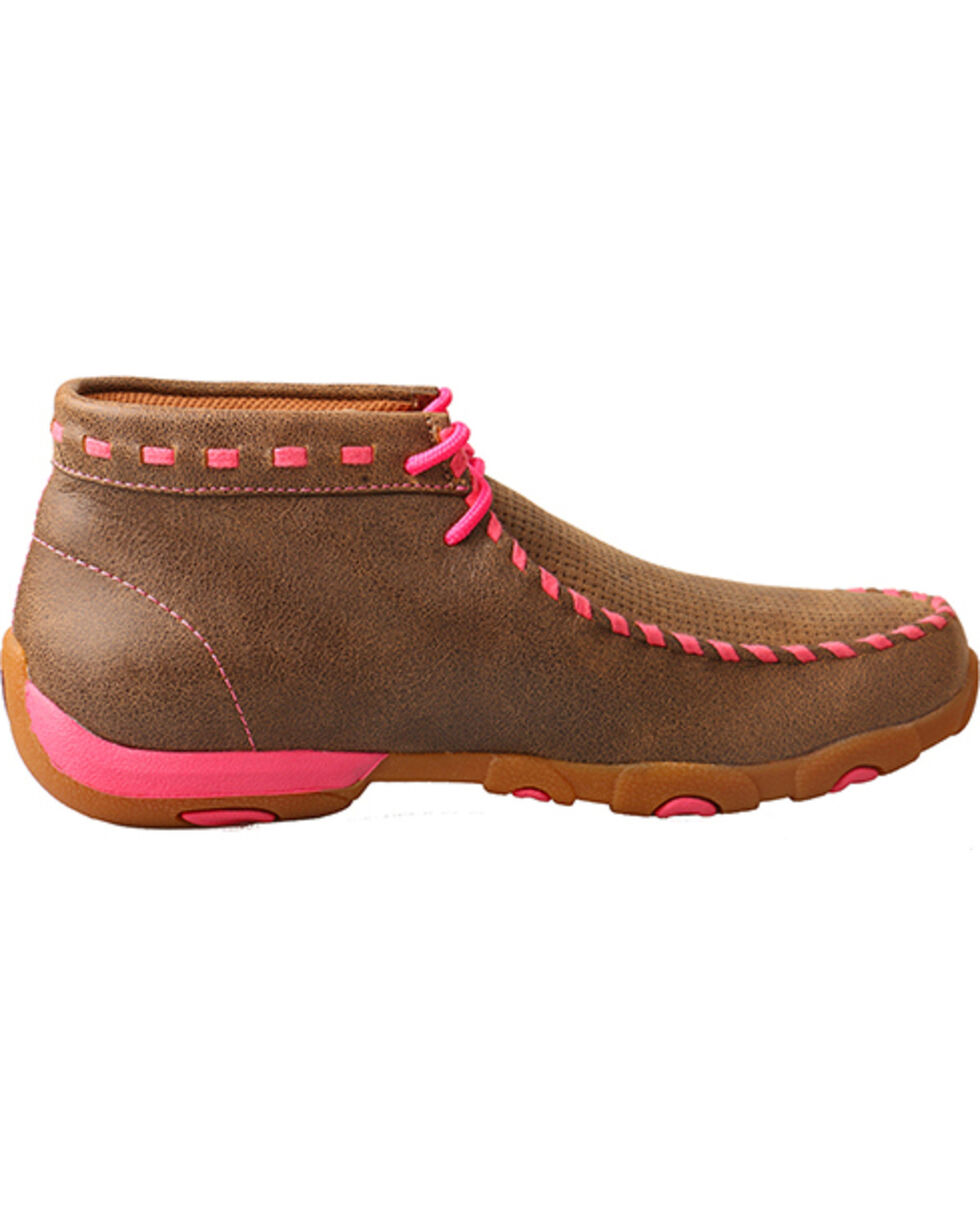 Twisted X Boots Women's Driving Moccasins, Pink, hi-res
