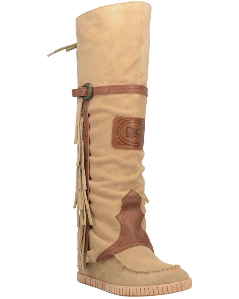 Dingo Women's Caddo Western Boots - Moc Toe, Natural, hi-res