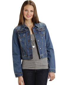 Roper Women's Americana Denim Jacket, Denim, hi-res