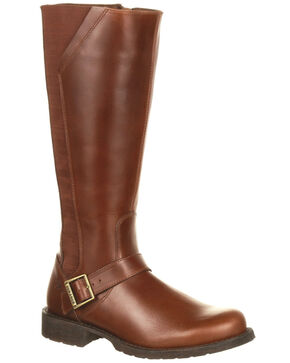 Durango Women's Crush Riding Boots - Round Toe, Brown, hi-res