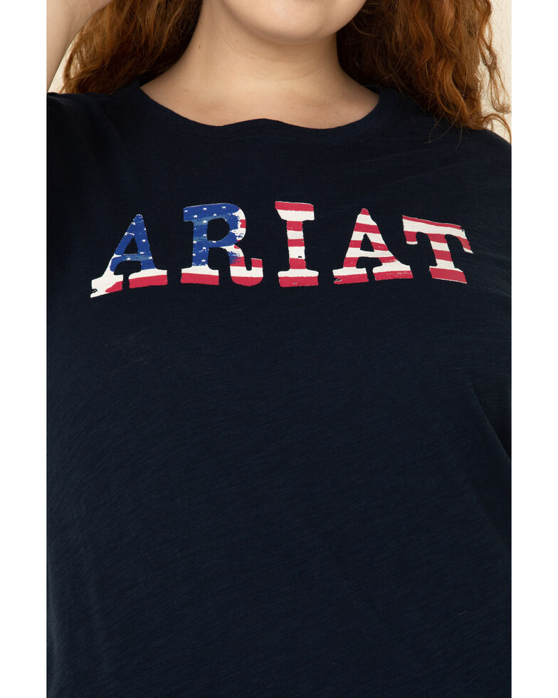 Ariat Women's R.E.A.L. Stars Tee - Plus, Navy, hi-res