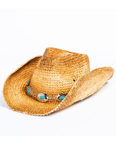Shyanne Women's Masami Light Brown Cowgirl Hat, Tan, hi-res