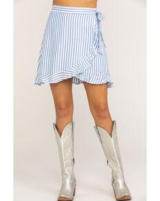Show Me Your Mumu Women's Roam Ruffle Anchor Stripe Skirt, Multi, hi-res