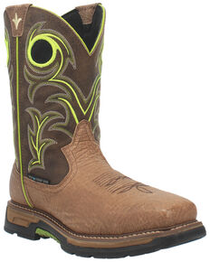 Dan Post Men's Storms Eye Waterproof EH Western Work Boots - Composite Toe , Brown, hi-res