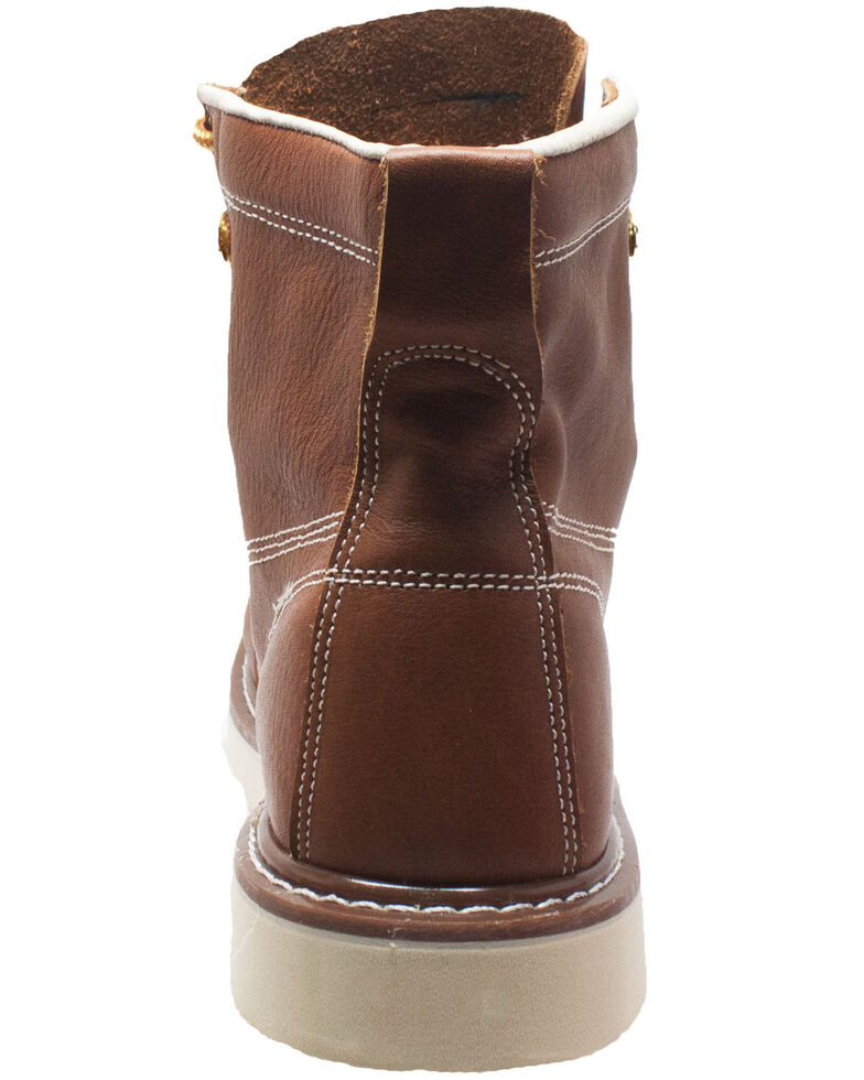 Ad Tec Men's Brown Lace-Up Work Boots - Soft Toe, Brown, hi-res