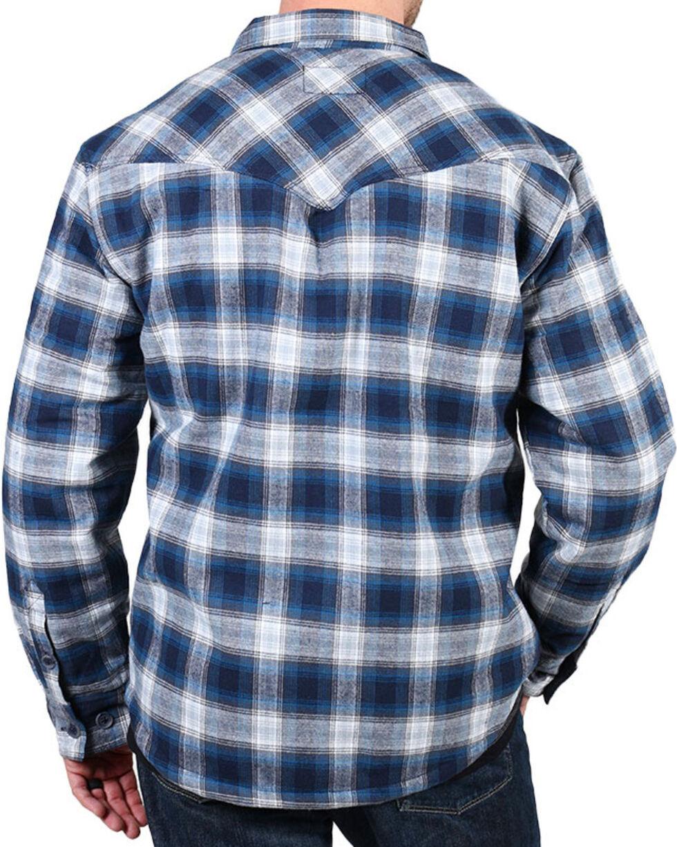 Cody James® Men's Shasta Plaid Long Sleeve Flannel, Blue, hi-res