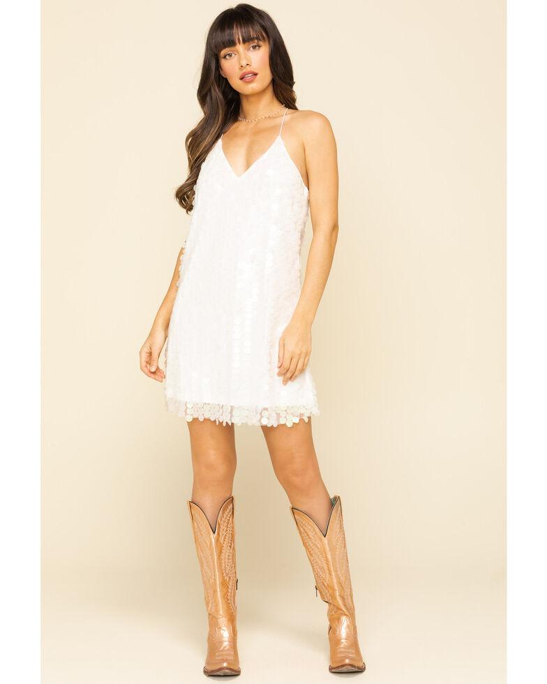 Molly Bracken Women's White Sequin Mini Dress , White, hi-res