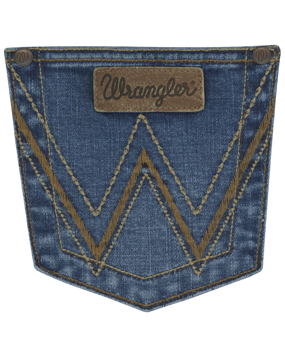Wrangler Women's RETRO Mae Boot Cut Jeans , Indigo, hi-res