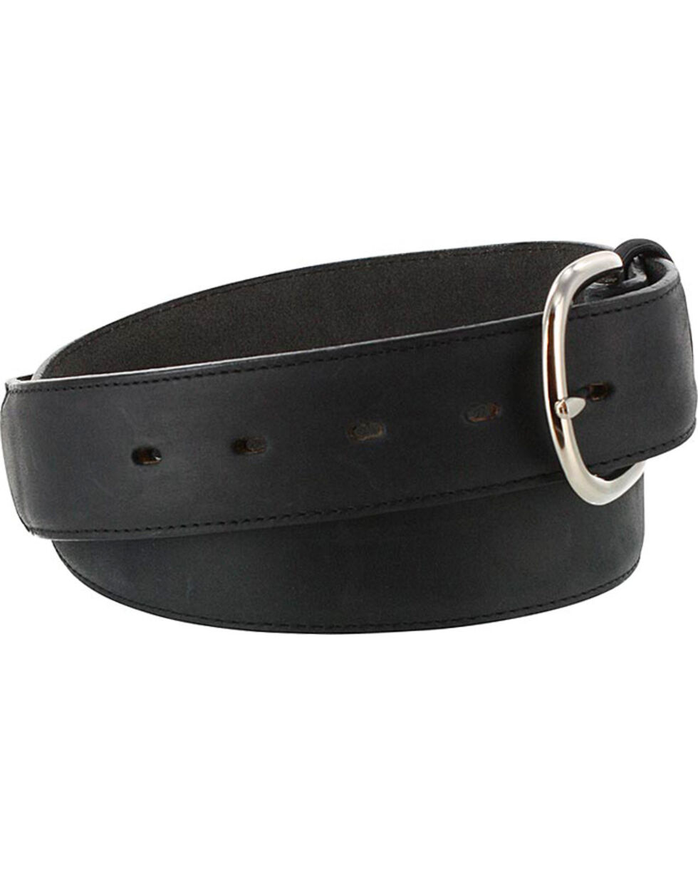 Cody James Men's Black Leather Belt, Black, hi-res