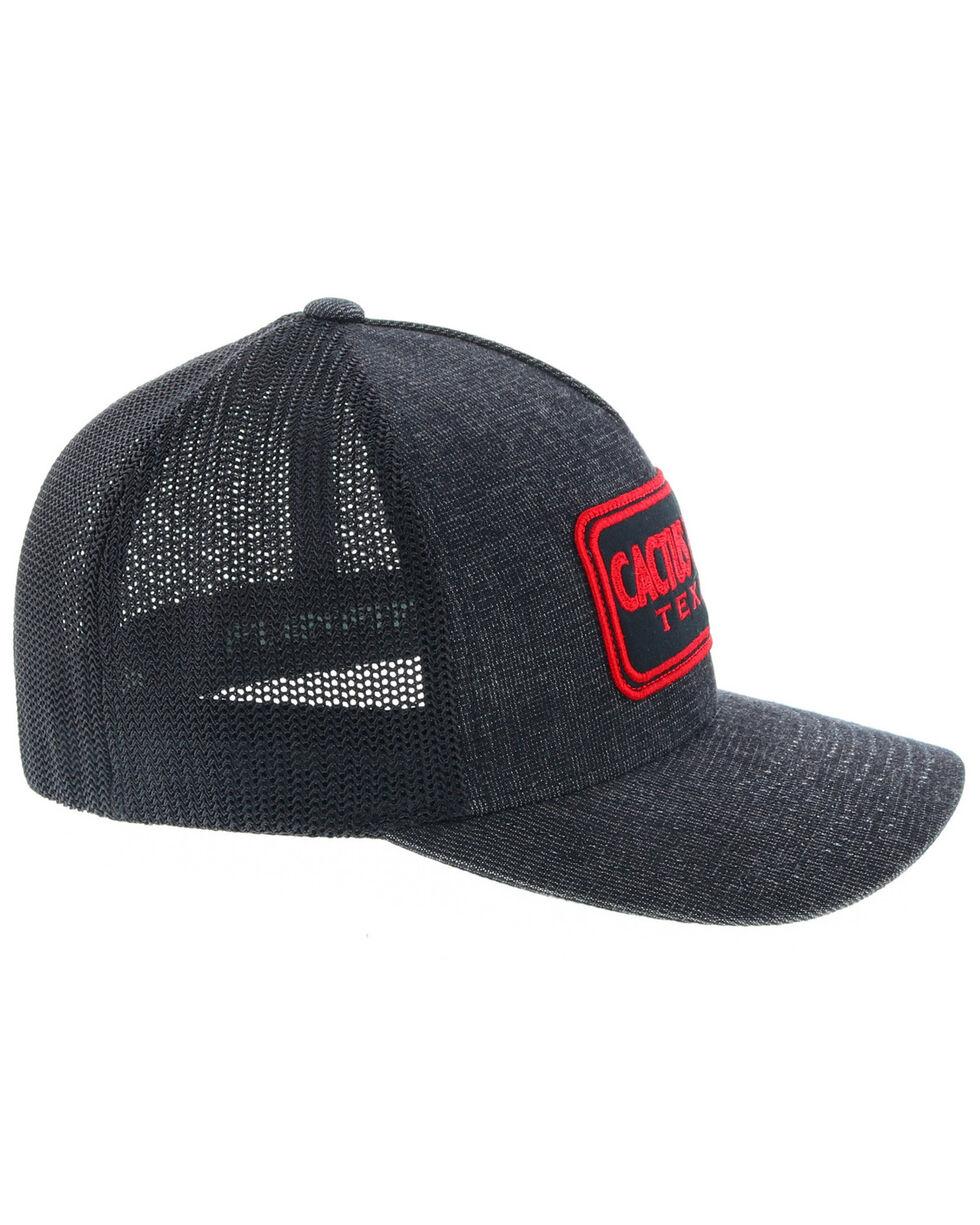 HOOey Men's Red & Black Cactus Ropes Logo Trucker Cap, Black, hi-res
