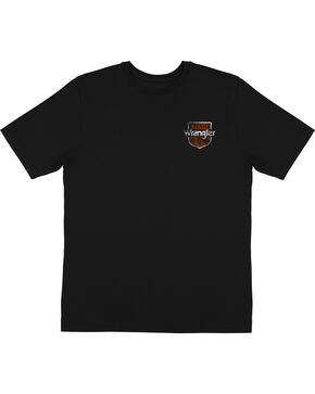 Wrangler Men's Team Roping Short Sleeve T-Shirt, Black, hi-res