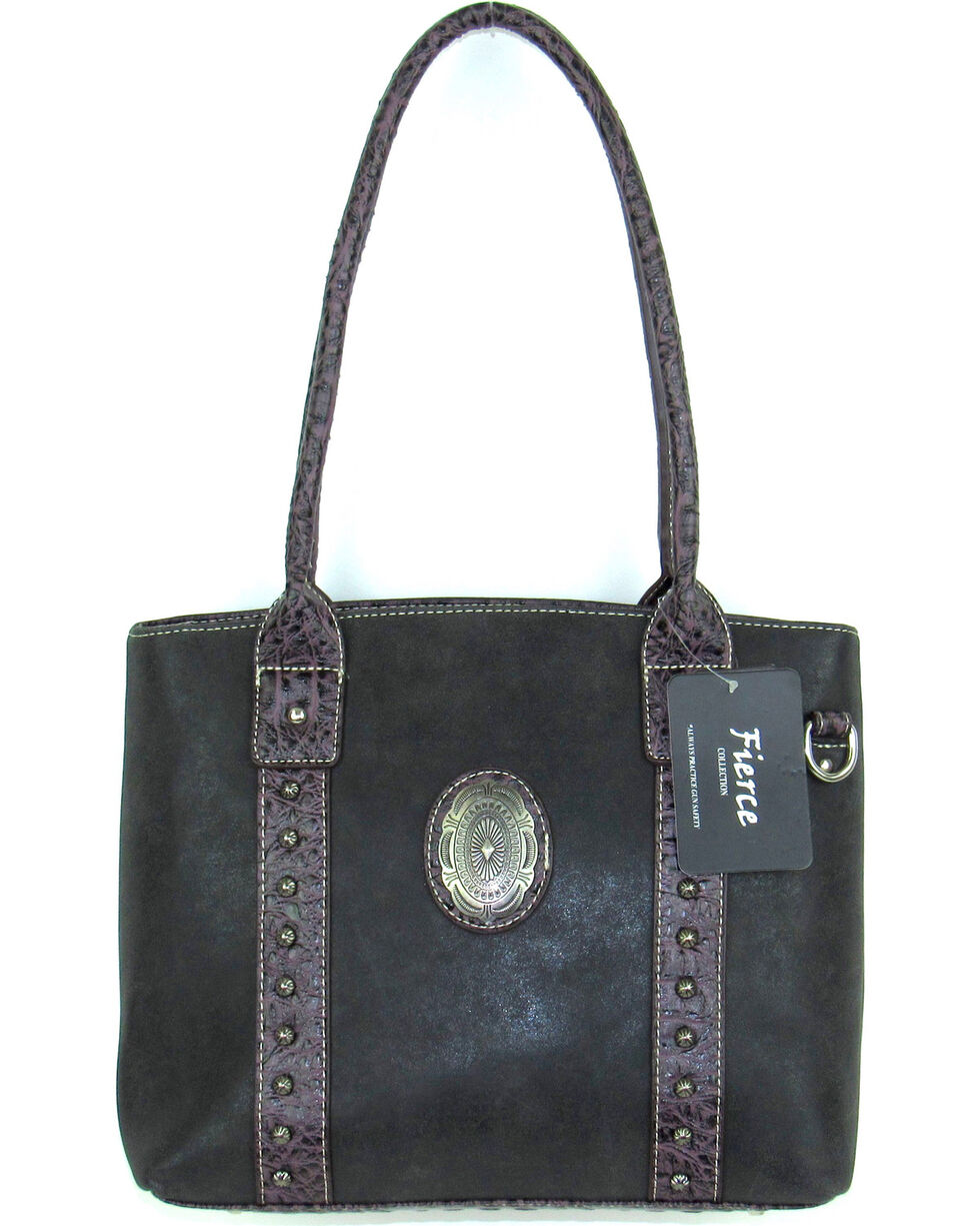 Savana Women's Fierce Concho Conceal Carry Handbag , , hi-res