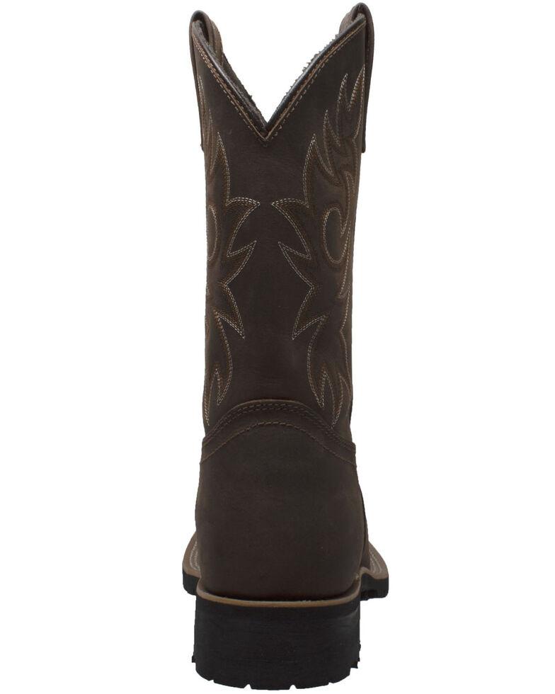 Ad Tec Men's Brown Western Work Boots - Steel Toe, Brown, hi-res