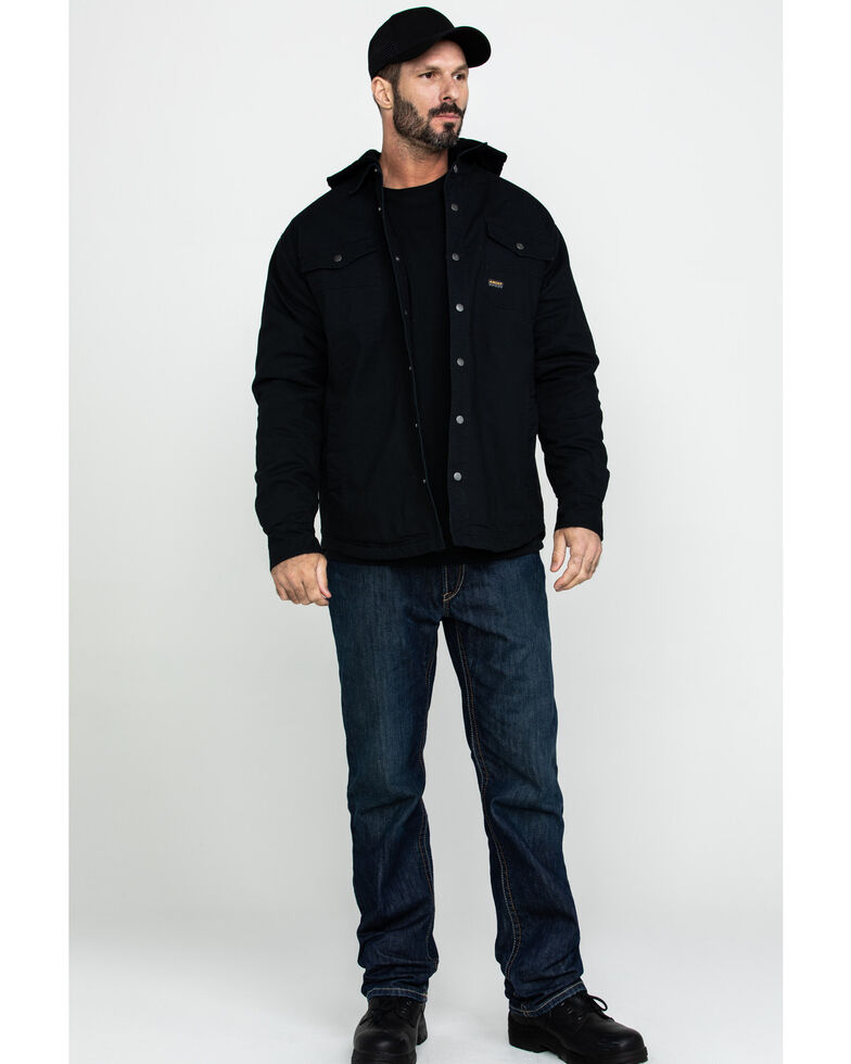 Ariat Men's Black Rebar Foundry Insulated Hooded Work Shirt Jacket - Big & Tall , Black, hi-res