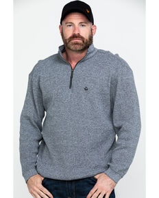 Wolverine Men's Vancouver Sweater Knit 1/4 Zip Work Shirt , Charcoal, hi-res
