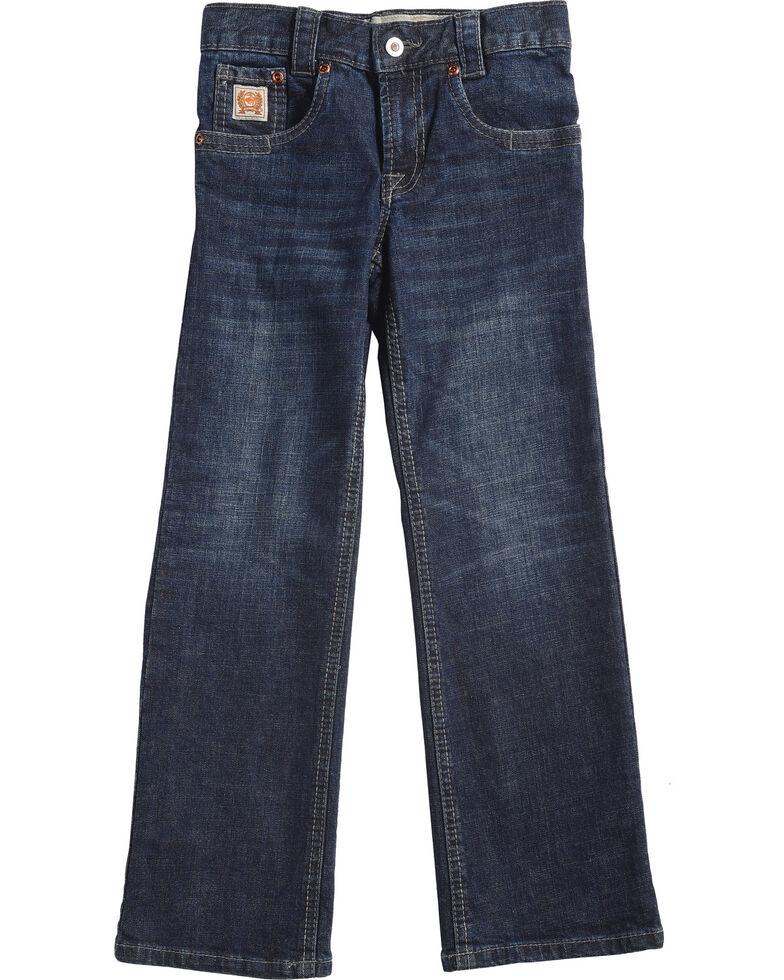 Cinch Boys' Carter Dark Wash Slim/Regular Fit Jeans (4-7) - Boot Cut, Blue, hi-res