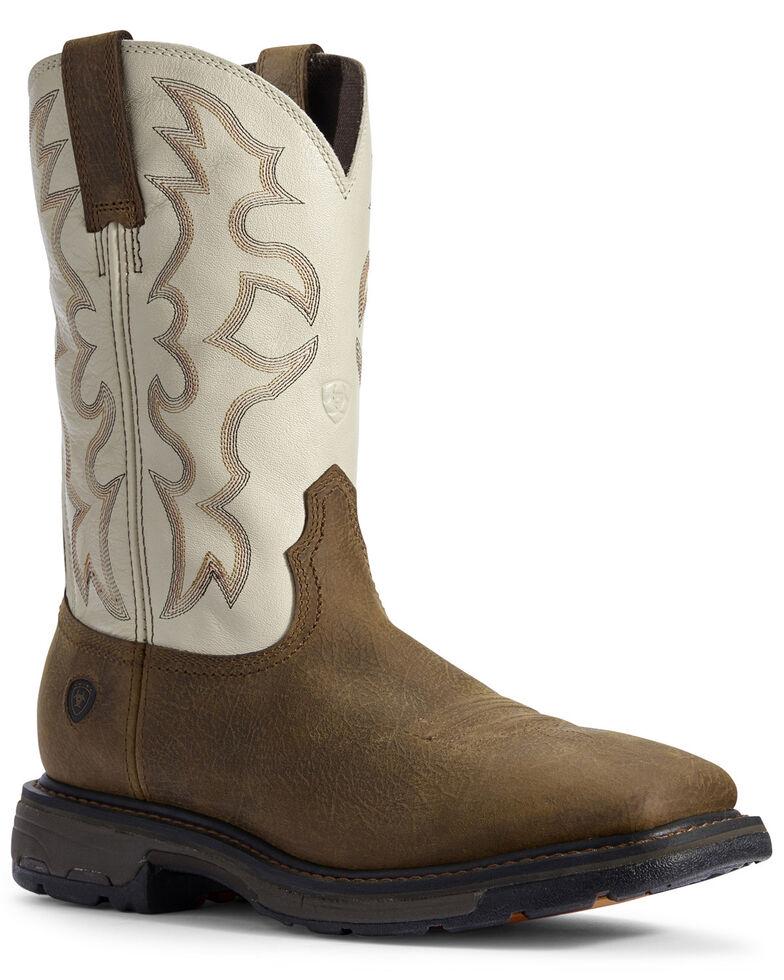 Ariat Men's Rye Workhog Western Work Boots - Soft Toe, Brown, hi-res