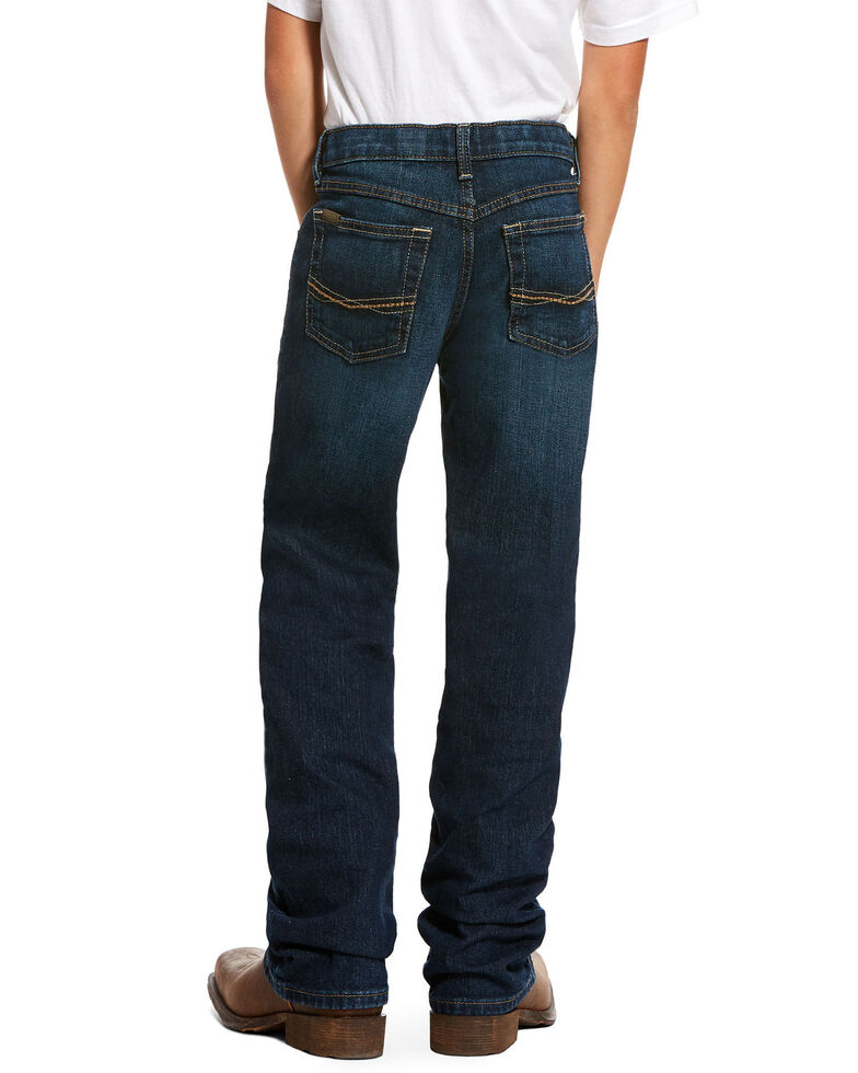 Ariat Boys' B4 Chief Legacy Pocket Stretch Relaxed Boot Jeans , Blue, hi-res