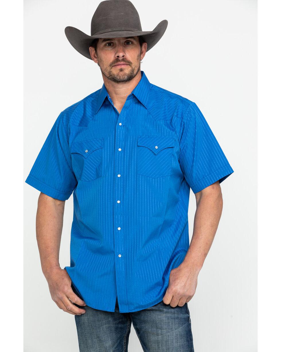 Ely Cattleman Men's Assorted Pencil Stripe Short Sleeve Western Shirt , Multi, hi-res