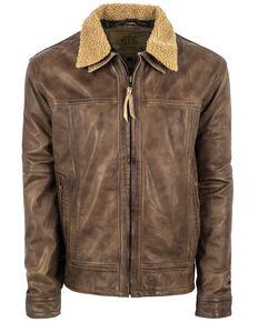 STS Ranchwear Men's Longmire Cream Leather Jacket , Beige/khaki, hi-res