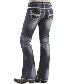 Rock & Roll Denim Women's Boot Cut Riding Jeans, Denim, hi-res