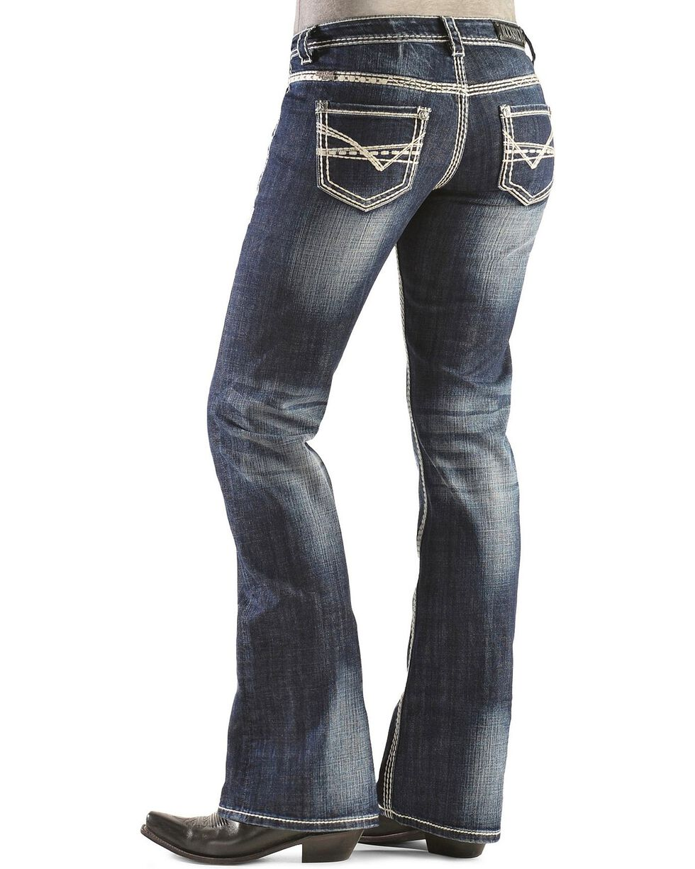Rock & Roll Denim Women's Boot Cut Riding Jeans, Denim, hi-res
