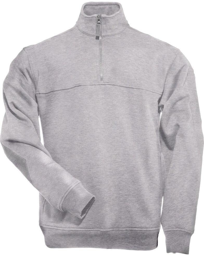 5.11 Tactical Quarter Zip Job Shirt - 3XL, Hthr Grey, hi-res