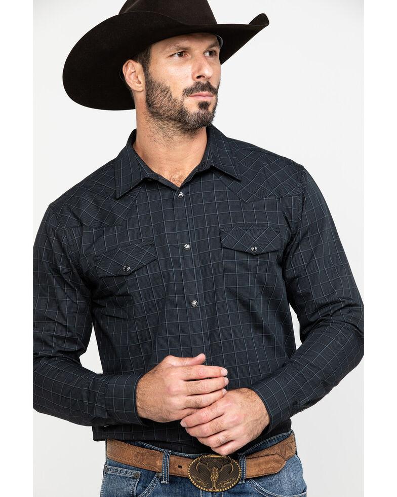 Gibson Men's Black Small Plaid Long Sleeve Western Shirt , Black, hi-res