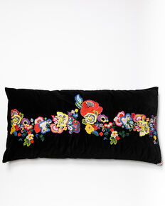 Johnny Was Viney Embroidered Pillow, Black, hi-res
