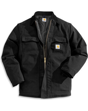 Carhartt Men's Duck Arctic Traditional Coat, Black, hi-res