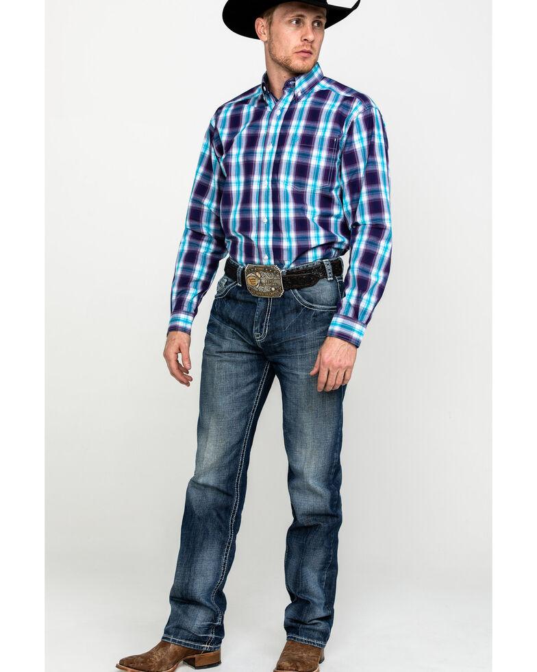 Ariat Men's Santos Large Plaid Long Sleeve Western Shirt - Big, Multi, hi-res