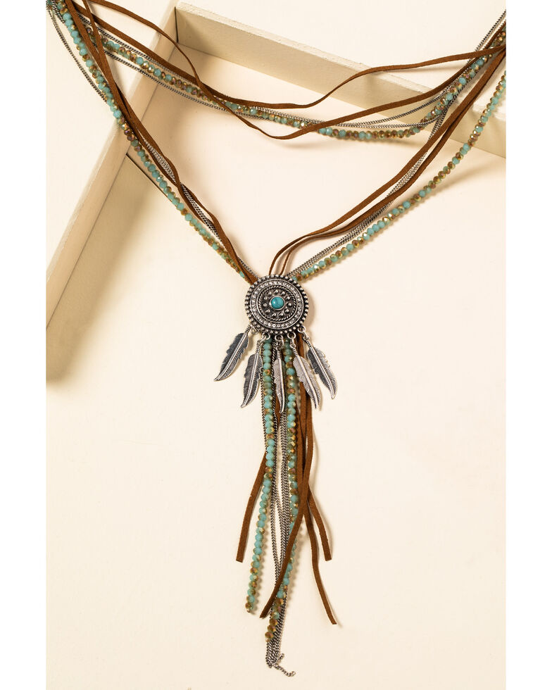 Shyanne Women's In The Oasis Multi Strand Concho Necklace , , hi-res