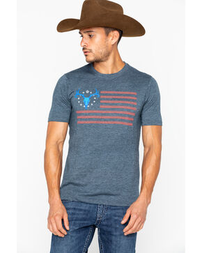 Cowboy Hardware Men's American Deer Fitted T-Shirt, Blue, hi-res