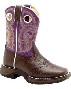 Durango Girl's Western Boots, Dark Brown, hi-res