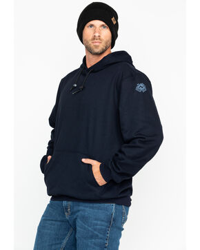 NSA Men's Heavyweight Pullover FR Work Sweatshirt , Navy, hi-res