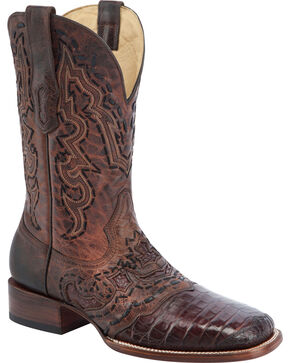 Corral Men's Caiman Vamp Exotic Western Boots, Brown, hi-res