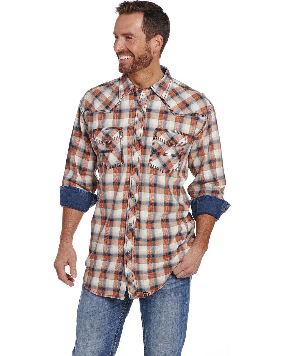Cowboy Up Men's Long Sleeve Vintage Wash Plaid Snap Shirt, Multi, hi-res