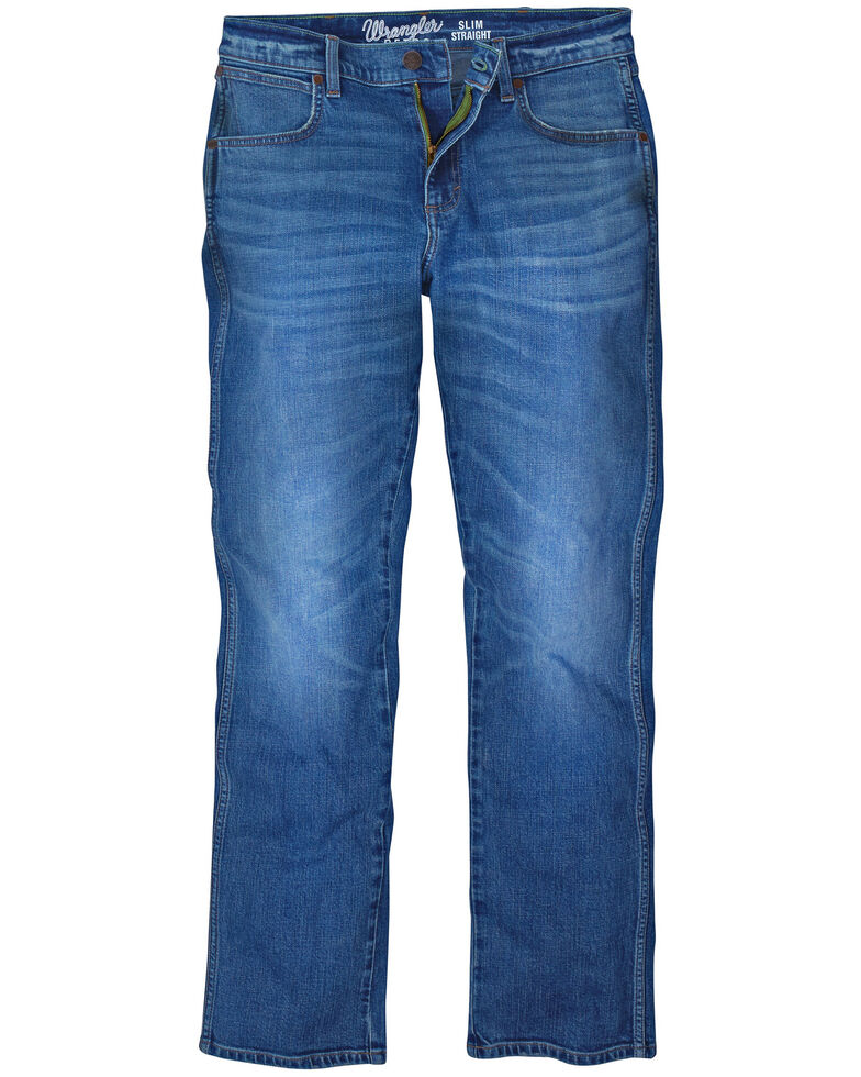 Wrangler Retro Boys' Linville Stretch Slim Straight Jeans , Blue, hi-res