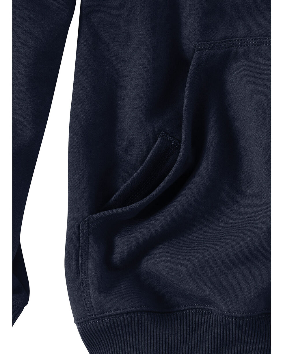 Carhartt Rain Defender Paxton Zip Front Hoodie - Big & Tall, Navy, hi-res