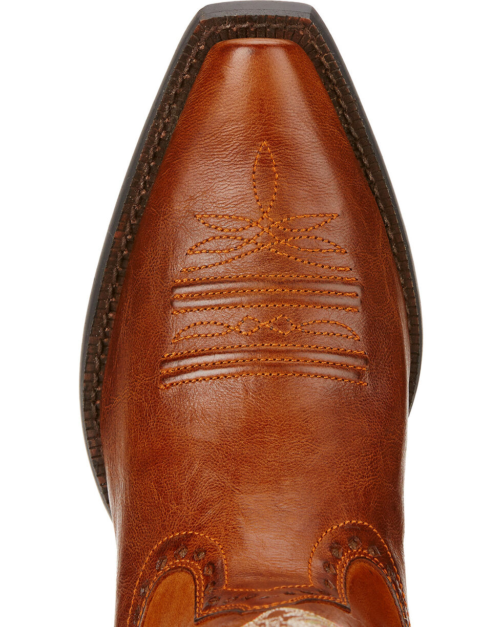Ariat Women's Round Up Maddox Western Boots, Wood, hi-res